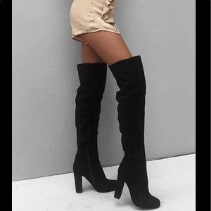 Over Knee Suede boots Sabo Skirt